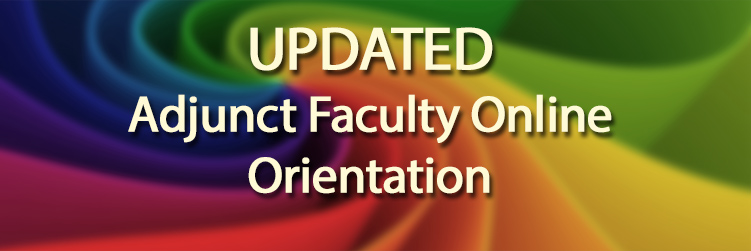 Image for Adjunct Faculty Online Orientation