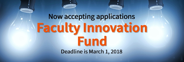 Faculty Innovation Fund Banner
