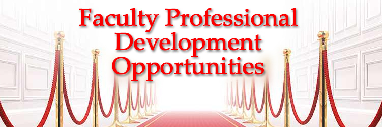 Faculty Professional Development Opportunities